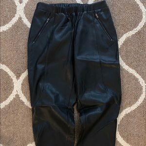 Pants - Faux leather joggers